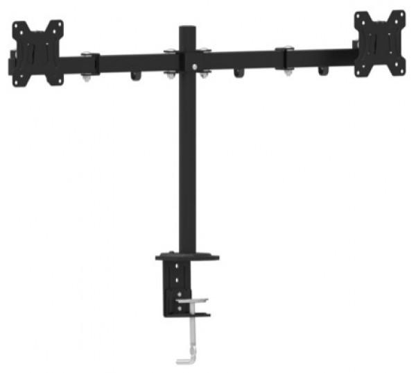 MA-DF2-01 Gembird Podesivi dupli stoni drzac za monitor, tilt,13-27'' max.7kg