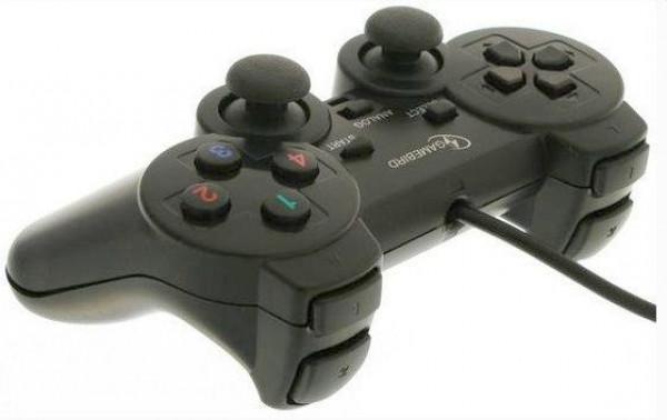 JPD-THRILLERSHOCK-BOX ** Gembird USB 2.0 analog vibration gamepad black(alt. JPD-UDV-01  ) (343)