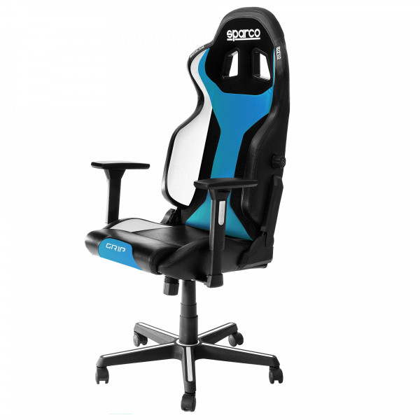 GRIP Gaming/office chair Black/Light Blue Sky