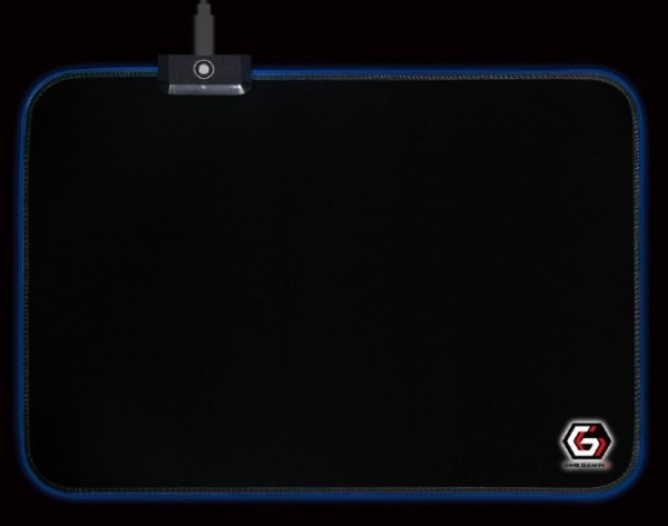 MP-GAMELED-M Gembird Gejmerska podloga za misa od gume, 250x350mm, 4mm RGB LED svetlo, MEDIUM