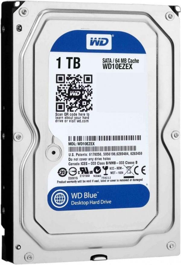 HDD WD 1TB WD10EZEX SATA3 7200 64MB Caviar Blue Bulk
