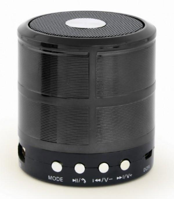 SPK-BT-08-BK Gembird Portable Bluetooth speaker +handsfree 3W, FM, microSD, AUX, black