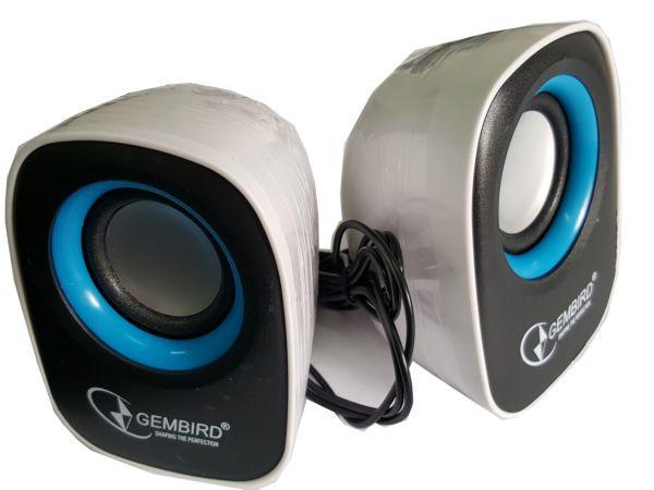 SPK-111 ** Gembird Stereo zvucnici black/black, 2 x 3W RMS USB pwr, 3.5mm kutija sa prozorom (343)