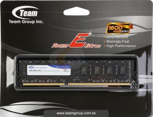 TeamGroup DDR3 TEAM ELITE UD-D3 4GB 1600MHz 1,5V 11-11-11-28 TED34G1600C1101