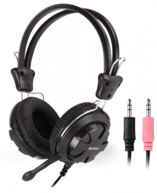 A4-HS-28-1 A4Tech Gejmerske slusalice sa mikrofonom, 40mm/32ohm, black, 2x3.5mm