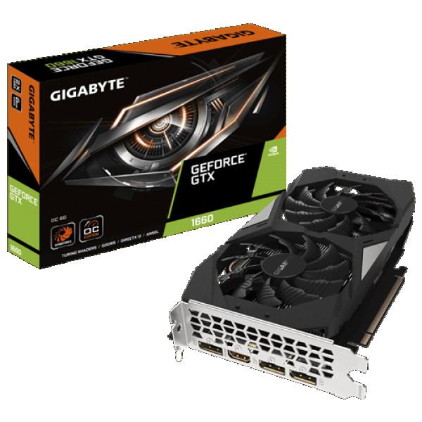 SVGA Gigabyte GeForce GTX 1660 6GB GV-N1660OC-6GD 2 Fan