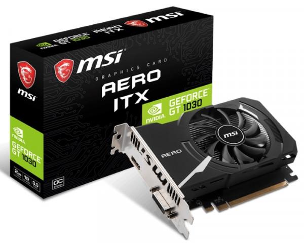 MSI nVidia GeForce GT 1030 2GB 64bit GT 1030 AERO ITX 2GD4 OC