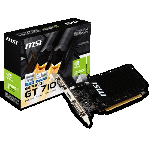 SVGA PCIE MSI GT710 2GD3H LP 64bit HDMIDVIVGA