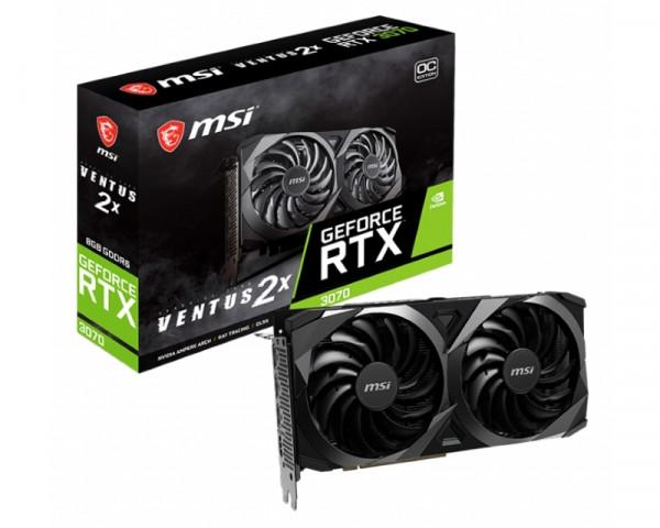 MSI nVidia GeForce RTX 3070 8GB 256bit RTX 3070 VENTUS 2X 8G OC LHR