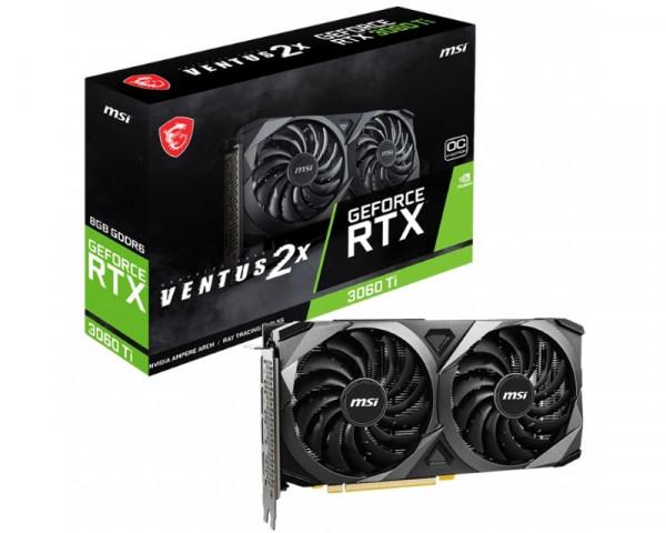 MSI nVidia GeForce RTX 3060 Ti 8GB 256bit RTX 3060 Ti VENTUS 2X 8G OCV1 LHR