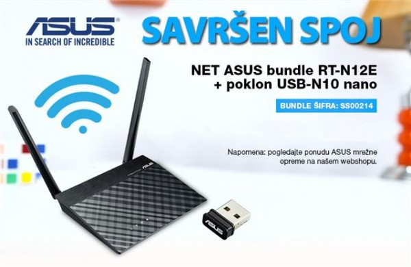 NET ASUS bundle RT-N12E + poklon USB-N10 nano