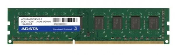 Memorija Adata DDR3 4GB 1600MHz, AD3U1600W4G11-B