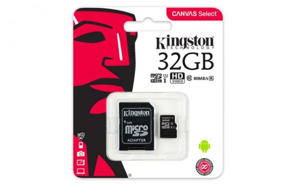 MICRO SD 32GB KINGSTON + SD adapter SDCS32GB