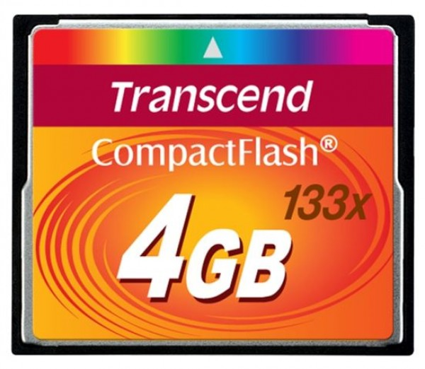 COMPACT FLASH CARD 4GB TRANSCEND TS4GCF133