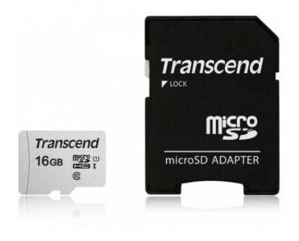 MICRO SD 16GB TRANSCEND sa adapterom TS16GUSD300S-A