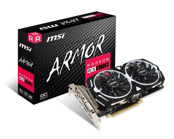 VGA PCIe MSI RX 570 ARMOR 8G OC