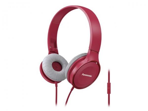 PANASONIC slušalice RP-HF100ME-P crvene sa mikrofonom