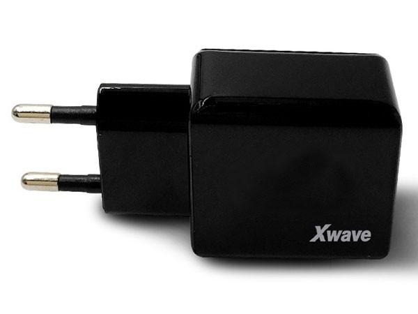 USB zidni punjač za mobilne, tablete, Dual USB, 5V 1A/2.1A, Crna 024015