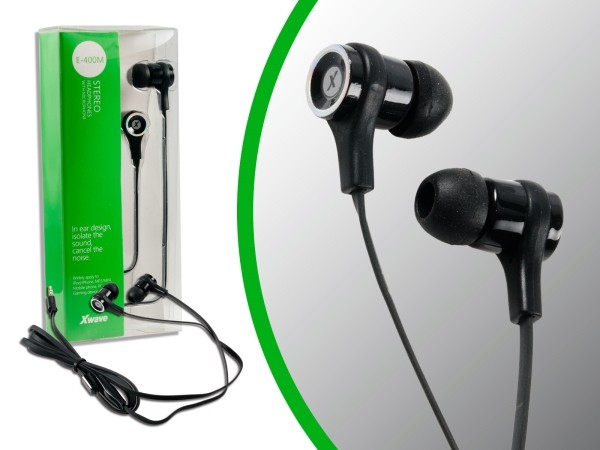 Slušalice za mobilni sa mikrofonom /stereo/ 3.5mm jack/1.2 m flat kablu/silikonske kapice/pvc box 021002