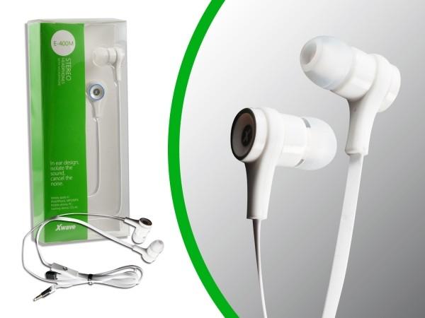 Slušalice za mobilni sa mikrofonom /stereo/ 3.5mm jack/1.2 m flat kablu/silikonske kapice/pvc box