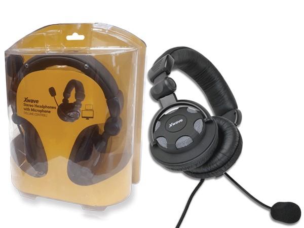 Slušalice, stereo/Mic & Volume control, rubber, blister