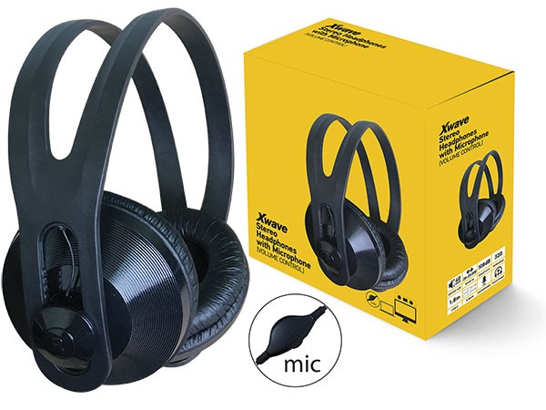 Slušalice, stereo/Mic & Volume control, color box