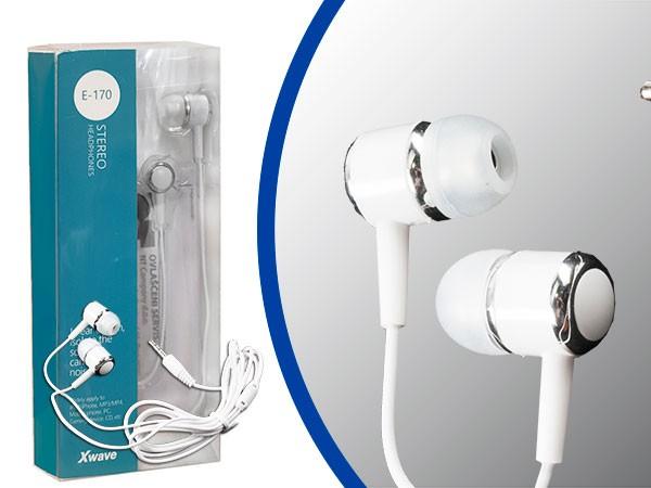 Slušalice, stereo, 3.5mm jack/1.2 m kabl/silikonske kapice/blister,bele