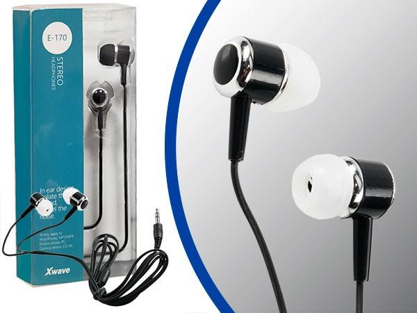 Slušalice, stereo, 3.5mm jack/1.2 m kabl/silikonske kapice/blister, crne