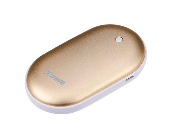 Dodatna baterija (backup) 4000mAh/2A + grejac ruku/USB&USB micro kabl, zlatni