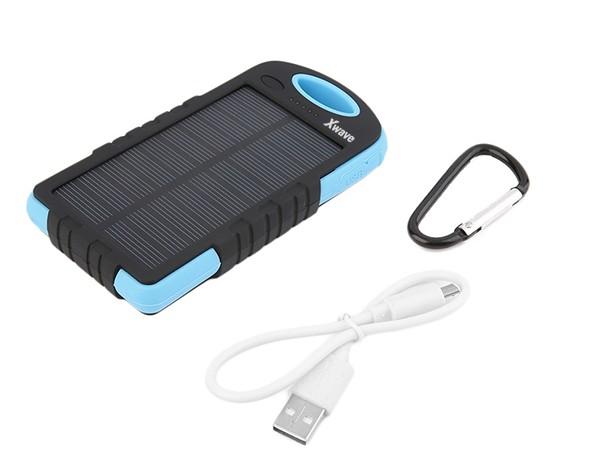 Dodatna baterija(backup) 6000mAh/1A + 2.1A/ dual USB/ solarni punjac, camping flash