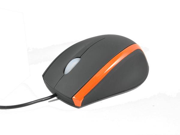 Opticki mis, USB port, 800 dpi gumiran crno-narandzasti