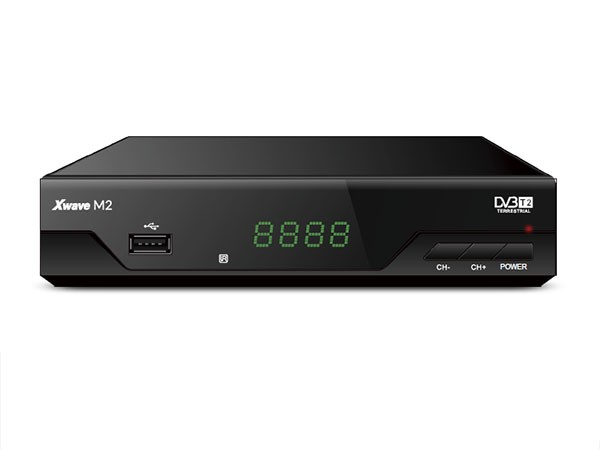 DVB-T2 Set Top Box, metalno kuciste, LED displey, scart,HDMI,RF in, RF out, USB, media player