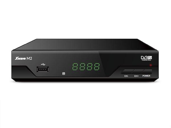DVB-T2 Set Top Box, metalno kuciste, LED displey, scart,HDMI,RF in, RF out, USB, media player
