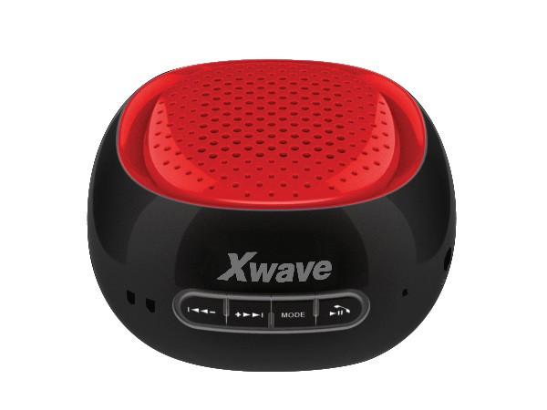 Xwave BT zvucnik ,FM Radio, Micro SD, USB , crni sa crvenom mrezicom