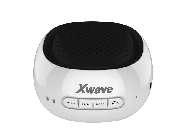Xwave BT zvucnik ,FM Radio, Micro SD, USB, beli sa crnom mrezicom