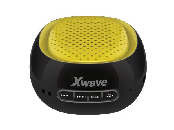 Xwave BT zvucnik ,FM Radio, Micro SD, USB , crni sa zutom mrezicom 022679