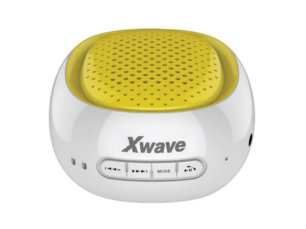 Xwave BT zvucnik ,FM Radio, Micro SD, USB beli sa zutom mrezicom 022674