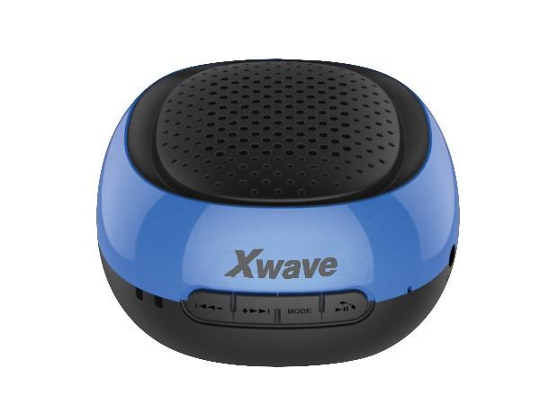Xwave BT zvucnik ,FM Radio, Micro SD, USB , crni sa plavim krugom 022681
