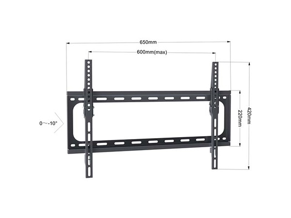 Xstand  nosac za TV, dijagonala 37''-70'', -10°~0° tilt, VESA: 600x400, nosivost do 50kg