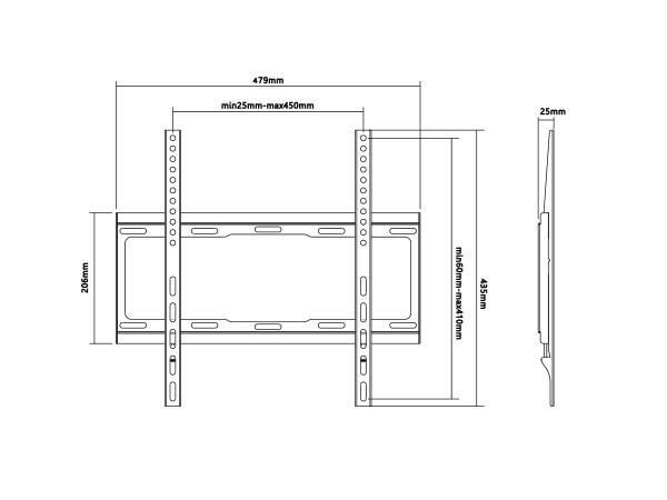 Xstand  nosac za TV, dijagonala 32''-55'', VESA podrzava: 400x400, nosivost do 40kg