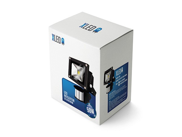 Outlet Led reflektor sa senzorom 50W,IP65, Beli,AC85-265V