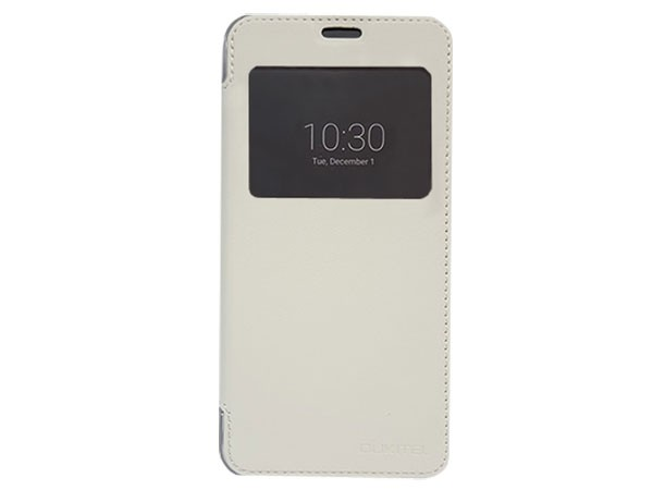 Kozna futrola za Oukitel C2  mobilni telefon bela