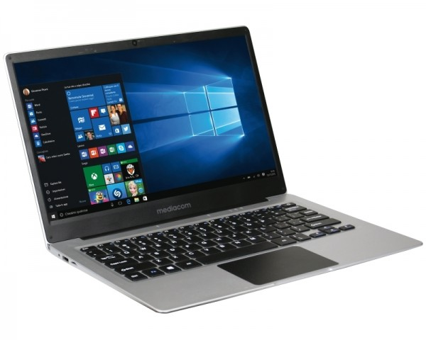 MEDIACOM SmartBook SB142 14'' FHD Intel Atom x5-Z8350 Quad Core 1.44GHz (1.92GHz) 4GB 32GB Windows 10 Home 64bit srebrni