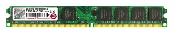 MEM DDR2 2GB  800MHz TRANSCEND JM800QLU-2G