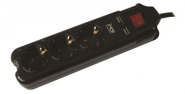 Produžni kabl MS BLASTER 3 crni prenaponska zaštita
