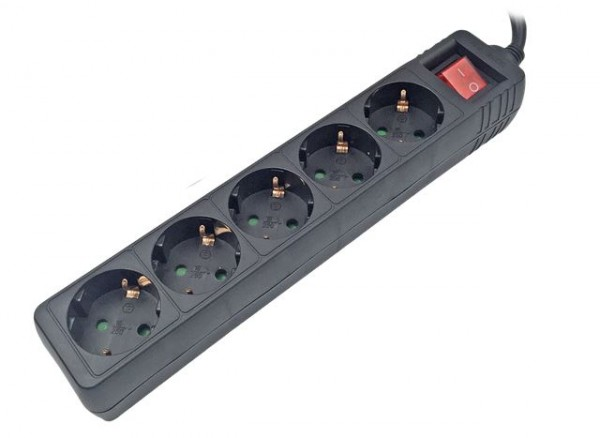 Produžni kabl MS STREAM 5 crni 1,5m