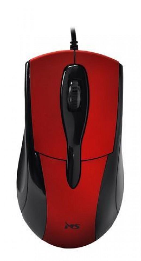MIŠ MS SKIPPER_3 žičani miš, crveni