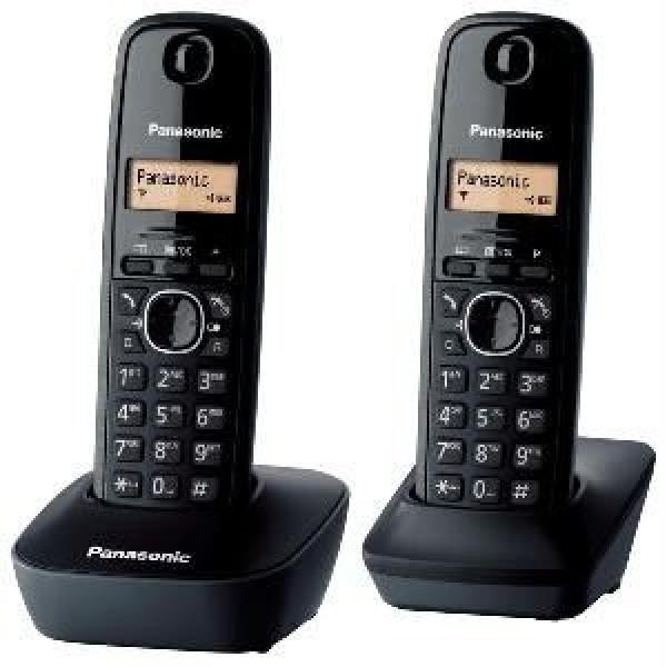 PANASONIC telefon KX-TG1612FXH DUO crni