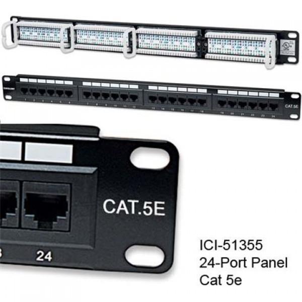 Intellinet prespojni UTP panel Cat.5e 24-portni 1U 19'', crni