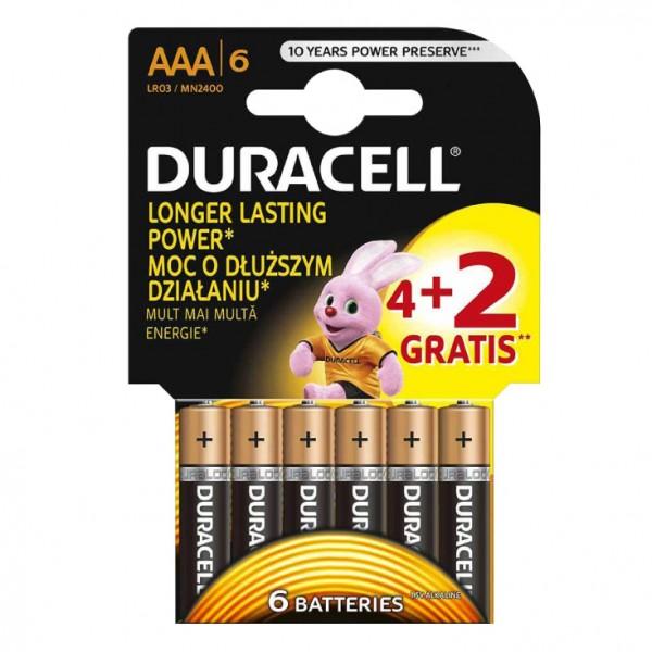 Duracell alkalne baterije AAA DUR-LR03/4+2BP